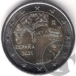 España. 2021. 2 Euro (SC) Ciudad Histórica de Toledo