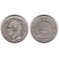 (Y37) Venezuela. 1954. 1 Bolivar (MBC) (Plata)