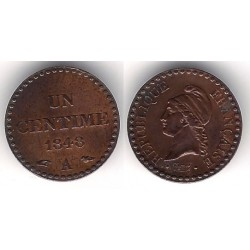 (754) Francia. 1848A. 1 Centime (EBC-)