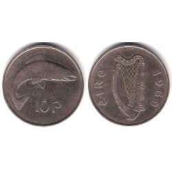 (23) Irlanda. 1969. 10 Pence (BC)