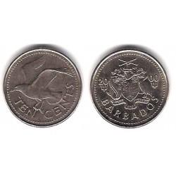 (12) Barbados. 2000. 10 Cents (EBC)