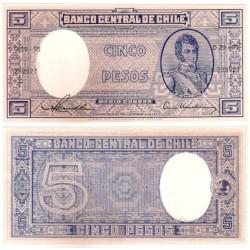 (119) Chile. 1958-59. 5 Pesos (SC)