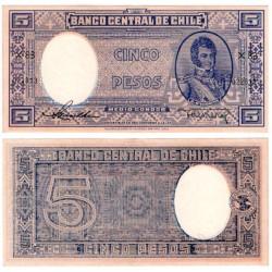 (110) Chile. 1947-58. 5 Pesos (SC)