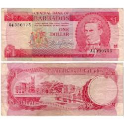 (29) Barbados. 1973. 1 Dollar (MBC-) Leve Rotura Margen Superior