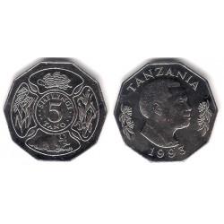 (23a.2) Tanzania. 1993. 5 Shilingi (SC)