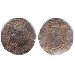 Reyes Católicos. Sin Fecha. 1 Real (BC+) (Plata) Ceca de Toledo M