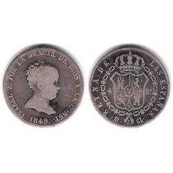 Isabel II. 1849. 2 Reales (BC) (Plata) Ceca de Madrid CL