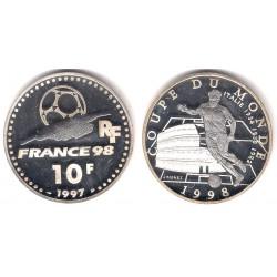 (1165) Francia. 1998. 10 Francs (Proof) (Plata)