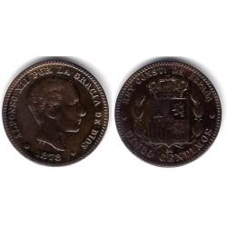 Alfonso XII. 1878. 5 Céntimos (MBC+) Ceca de Barcelona OM