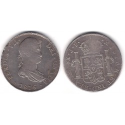 Fernando VII. 1816. 8 Reales (BC) (Plata) Ceca de Lima JP