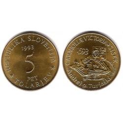 (9) Eslovenia. 1993. 5 Tolarjev (SC)