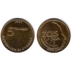 (38) Eslovenia. 1997. 5 Tolarjev (EBC)