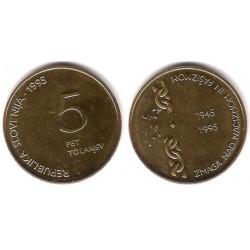 (22) Eslovenia. 1995. 5 Tolarjev (SC)