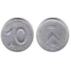 (7) Alemania Democrática. 1953(E). 10 Pfennig (MBC)