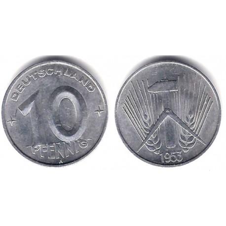 (7) Alemania Democrática. 1952(A). 10 Pfennig (EBC+)