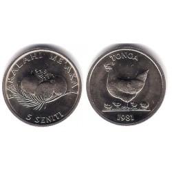 (44) Tonga. 1981. 5 Seniti (SC)