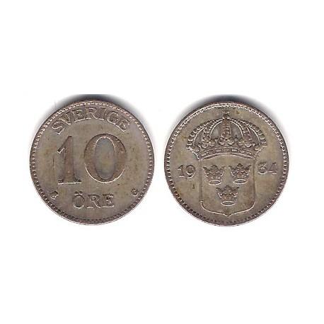 (780) Suecia. 1934. 10 Ore (MBC-) (Plata)