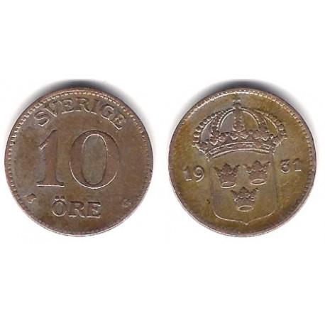 (780) Suecia. 1931. 10 Ore (MBC-) (Plata)