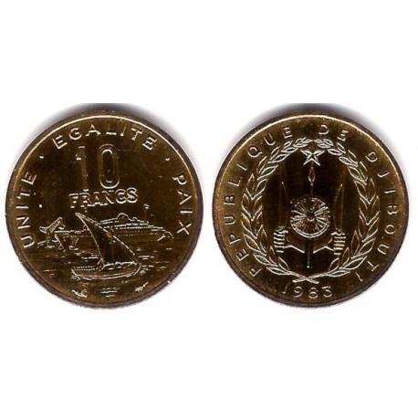 (23) Djibouti. 1983. 10 Francs (EBC)