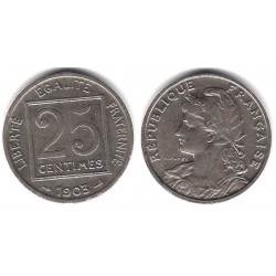 (855) Francia. 1903. 25 Centimes (MBC+)