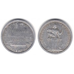 (11) Polinesia Francesa. 1965. 1 Franc (MBC)