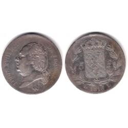 Francia. 1816L. 5 Francs (BC+/BC) (Plata)