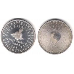 Paises Bajos. 2004. 5 Euro (EBC) (Plata)