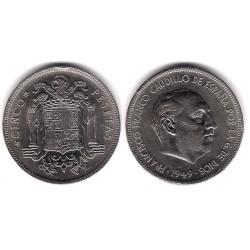 Estado Español. 1949*(19-49). 5 Pesetas (MBC-)