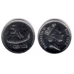 (29) Islas Fiji. 1992. 5 Cents (SC)