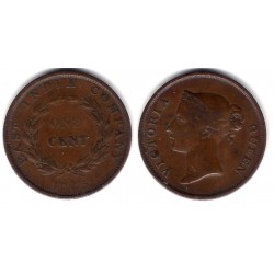 (3) Straits Settlements. 1845. 1 Cent (BC+)