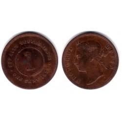 (9) Straits Settlements. 1875. 1 Cent (MBC+)