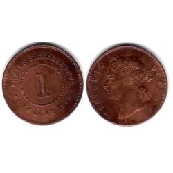 (16) Straits SEttlements. 1897. 1 Cent (MBC+)