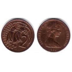 (32.1) Nueva Zelanda. 1969. 2 Cents (MBC)