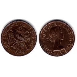 (24.2) Nueva Zelanda. 1959. 1 Penny (MBC)