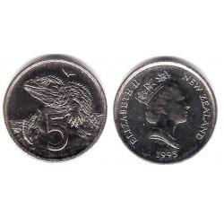(60) Nueva Zelanda. 1995. 5 Cents (SC)