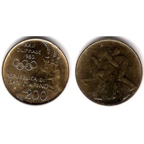 (109) San Marino. 1980. 200 Lira (SC)