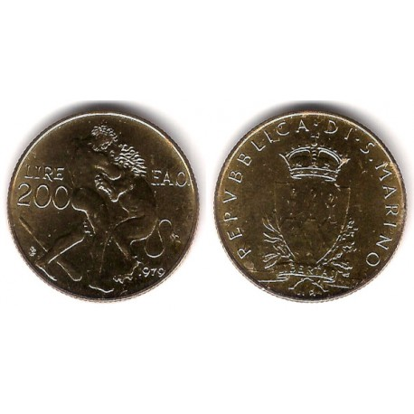 (96) San Marino. 1979. 200 Lira (SC)