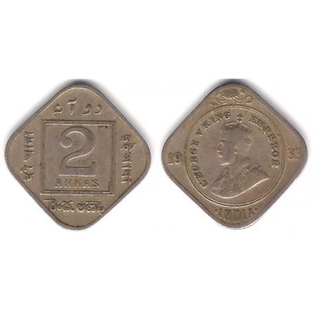 (516) India Británica. 1933. 2 Annas (BC+)
