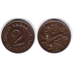 (15) Estonia. 1934. 2 Senti (MBC+)