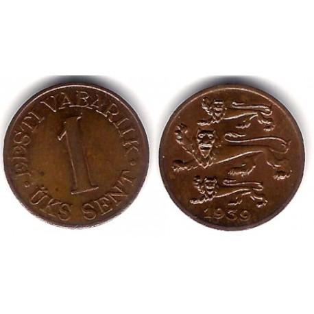 (19) Estonia. 1939. 1 Sent (EBC)