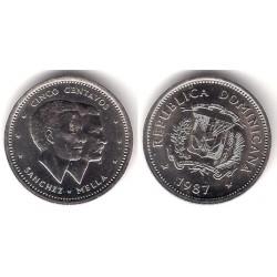 (59) República Dominicana. 1987. 5 Centavos (SC)
