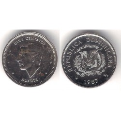 (60) República Domincana. 1987. 10 Centavos (EBC)