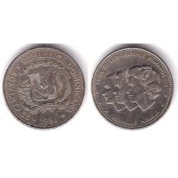 (61.2) República Dominicana. 1986. 25 Centavos (MBC-)