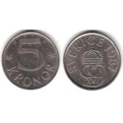 (853) Suecia. 1987. 5 Kronor (MBC)