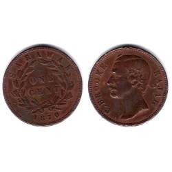 (6) Sarawak. 1870. 1 Cent (BC)