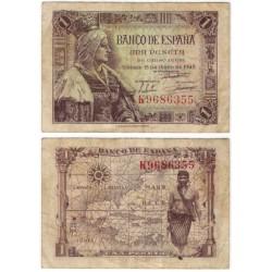 Estado Español. 1945. 1 Peseta (BC) Serie K