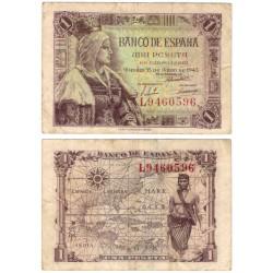 Estado Español. 1945. 1 Peseta (BC+) Serie L