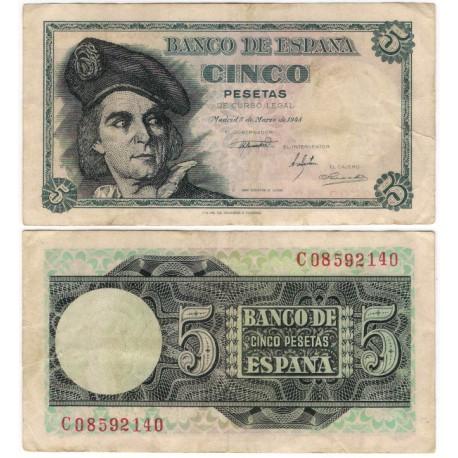 Estado Español. 1948. 5 Pesetas (BC+) Serie C