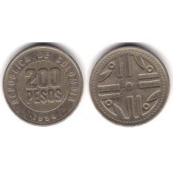 (287) Colombia. 1994. 200 Pesos (BC+)