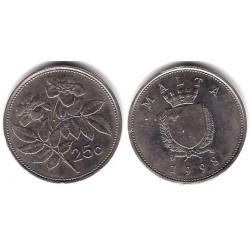 (97) Malta. 1998. 25 Cents (MBC)